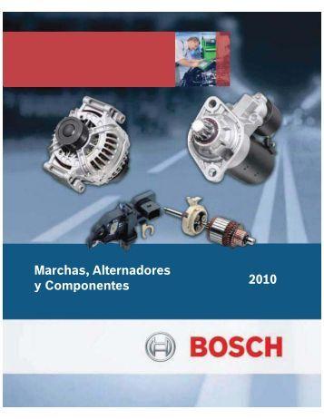 Marchas, Alternadores y Componentes 2010 - Bosch