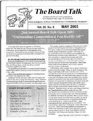 Board Talk May 2003 - eShuffleboard.com