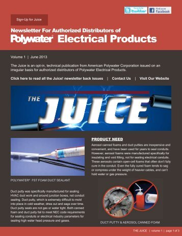 Vol 1 June 2013 - American Polywater