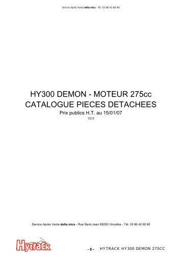 HY300 DEMON - MOTEUR 275cc CATALOGUE PIECES ...