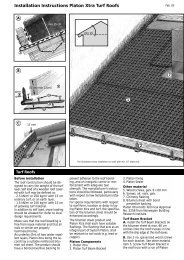 Installation Instructions Platon Xtra Turf Roofs - Isola