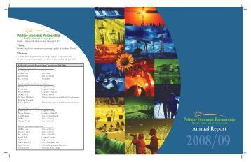 Annual report 2008/2009 - Palliser Economic Partnership