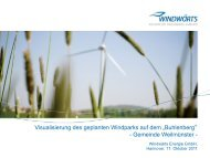 Visualisierung des geplanten Windparks auf dem ... - Weilmünster