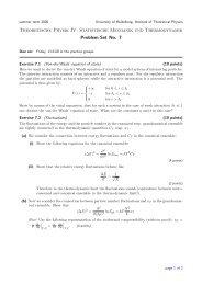 Theoretische Physik IV: Statistische Mechanik und Thermodynamik ...