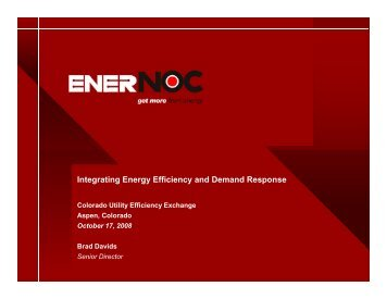 "Integrating Demand Response with Energy Efficiency Programs"" by"