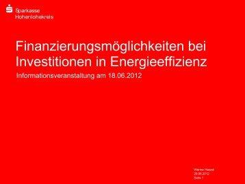 Präsentation Herr Hassel - WIH-Wirtschaftsinitiative Hohenlohe