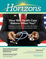 Horizons Issue 2 2010 - National Gaucher Foundation