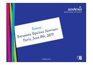 Exane Europeanequitiesseminar Paris June8th, 2011