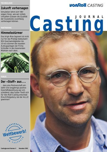 Casting Journal November 2002 - vonRoll casting