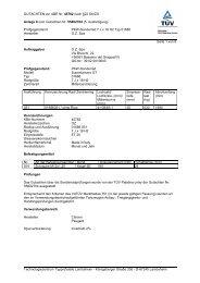GUTACHTEN zur ABE Nr. 45782 nach §22 StVZO Anlage 9 zum ...