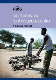 Small arms and light weapons control - Saferworld