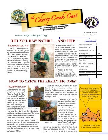 NEWSLETTER Nov-Dec 2006 - Cherry Creek Anglers