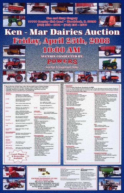 Ken - Mar Dairies Auction - Mike Powers Auctions.com