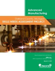 Oakland County Workforce Development Skills Needs Assessment ...