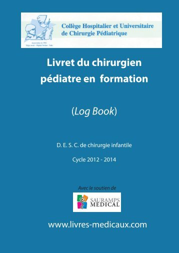 Livret du chirurgien pédiatre en formation (Log Book) - SOFOP