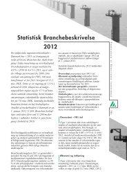 Statistisk Branchebeskrivelse 2012 - Foreningen af Rådgivende ...