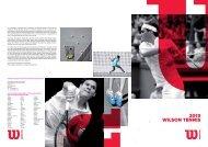 Catalogue Tennis