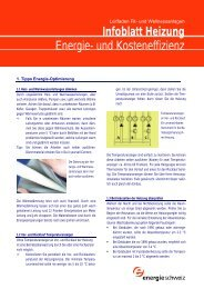 Infoblatt Heizung Energie- und Kosteneffizienz - Hotelpower
