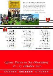 Offene Türen in Ro.-Oberndorf 16. - 17. Oktober 2010