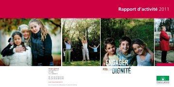 Rapport d'activité 2011 - Hospice général