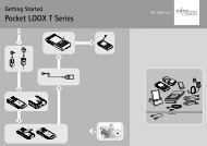 Getting Started Pocket LOOX T Series 4 ? 2 5 6 1 3 - Fujitsu UK