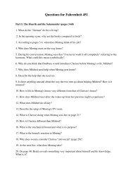 Questions for Fahrenheit 451 - Joebyrne.net