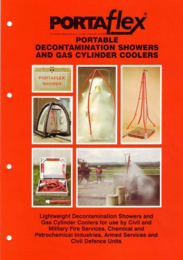 portable decontamination showers and gas cylinder coolers
