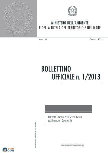 BOLLETTINO UFFICIALE n. 1/2013 - Pubblicazioni Ufficiali dello Stato