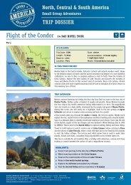 Flight of the Condor 14 Day hotel tour - Adventure holidays