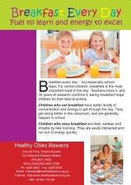 Breakfast Everyday - Healthy Cities Illawarra