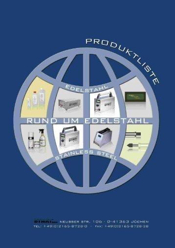 Produktliste Bymat