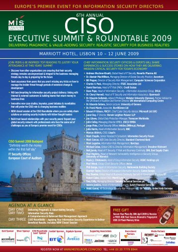 EXECUTIVE SUMMIT & ROUNDTABLE 2009 - MIS Training
