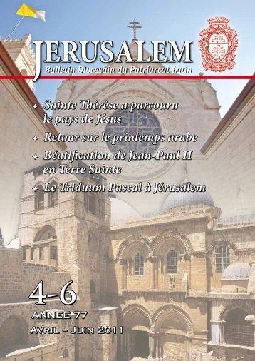 Terre Sainte - Patriarcat latin de Jérusalem