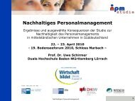 Nachhaltiges Personalmanagement - Bodensee-Forum Personalmanagement