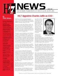 HL7 Appoints Charles Jaffe as CEO