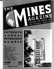 7 . f itfitiitifi — NUMBER 10 - Mines Magazine - Colorado School of ...