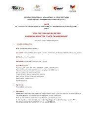 xxiv central american and caribbean athletics senior championship