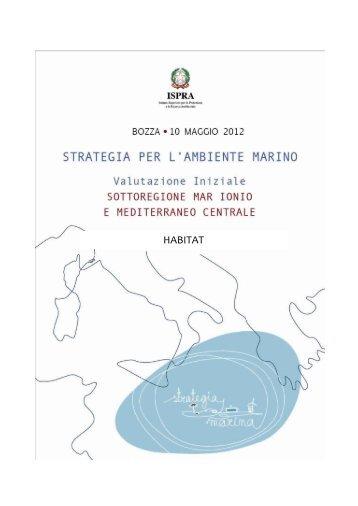4.1 Habitat MedCen.pdf - La strategia marina - Ispra