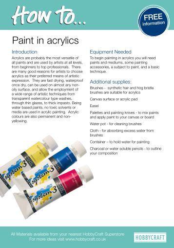 free explore acrylic painting