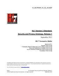 HL7 Version 3 Standard: Security and Privacy Ontology, Release 1 ...