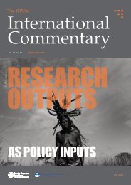 Research Outputs as Policy Inputs - ITPCM - Scuola Superiore Sant ...