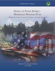 hydrogen program plan - National Energy Technology Laboratory