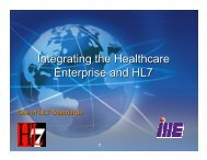 Integrating the Healthcare Enterprise and HL7