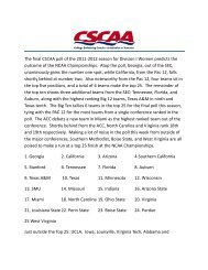 The final CSCAA poll of the 2011-2012 season for Division I Women ...