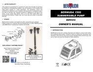 Submersible Pond Pump 1500 - Bermuda