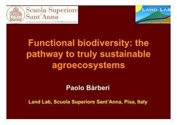 Functional biodiversity - Scuola Superiore Sant'Anna