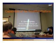 Capabilities of the SmallSat Platform