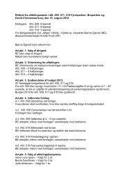 Referat fra afdelingsmøde for Fyrreparken, Broparken, Dav...