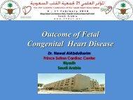Outcome of Fetal Congenital Heart Disease - RM Solutions