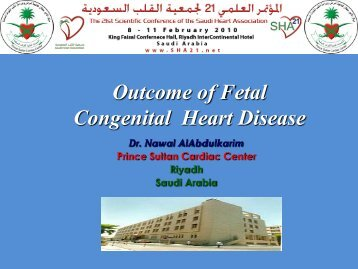 Outcome of Fetal Congenital Heart Disease - RM Solutions